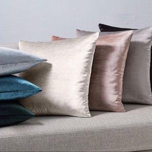 West Elm Cotton Velvet Luster Pillow Cases New